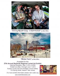 Mark Miller Accepted Into The 27th Annual Skylands Regional Juried Art Exhibit